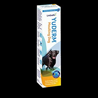 Lintbells   YuDERM Moulting Dog Formally YuMEGA   Coat and Skin Supplement for Dogs with Dry or Dull Coats, All Ages and B...