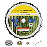 CZS Chainsaw Tooth 9' Brush Cutter Blade Carbide Trimmer Head Replacement Circular Saw Blade Weeder Accessories (Adapter Included)