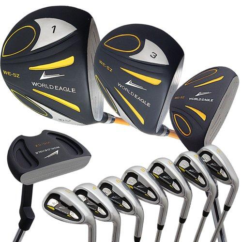WORLD EAGLE(ワールドイーグル) 5Z メンズ ゴルフ クラブ フルセット ブラック 右用 フレックスR WE-5Z-BK-R-W/O