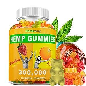 Hemp Gummies 300,000   Extra Potency   100% Natural Hemp Premium Extract   Supports Healthy Skin, Nails & Hair   Omega 3-6-9   30 ct