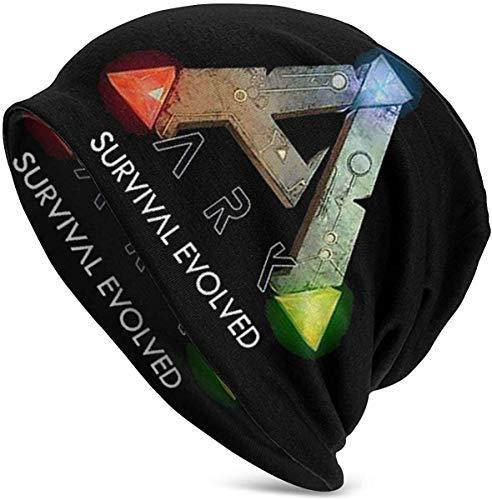 ARK Survival Evolved Fashion Stretchy Strickmütze Hedging Cap Freizeitmütze Baumwollmütze für Männer Frauen Beanie Mütze, Warme Mütze Schwarz