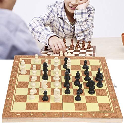 Yisenda Schackset i träboxar, vintage schack, bärbar med lådor för hemskolan, familjen, resor