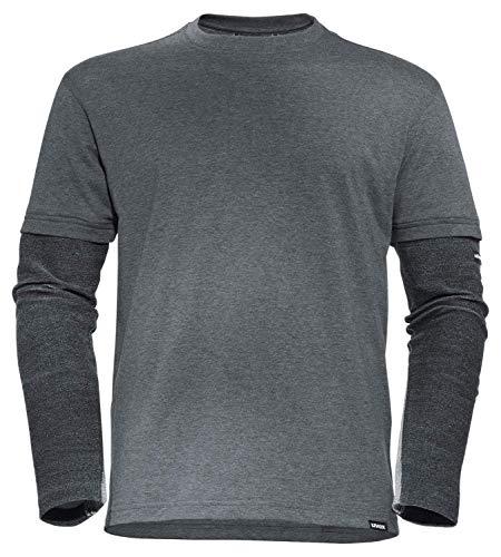 Uvex Cut Nanoflex Herren-Arbeitsshirt - Dunkelgraues Männer-T-Shirt - Ärmel mit Schnittschutz-Stufe 5 S