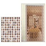 Holz Perlen Vorhang Hängender Fliegengitter-Türvorhang Dekor Trennraum Hängende Saiten Wohnkultur(Size:80 × 200 cm)