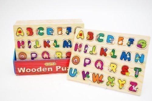 Puzzle Bois Alphabet ABC Enfant Lettre