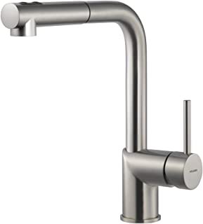 Houzer VITPO-664-BN Vitale Pull Out Kitchen Faucet, Brushed Nickel