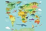 Pirate Old Treasure World Map Fiesta de cumpleaños Bebé Dibujos Animados Fondo fotográfico Fondo fotográfico Photocall Photo Studio A10 7x5ft / 2.1x1.5m