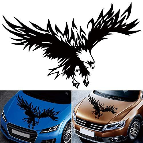 Romdink Auto Aufkleber - Autoaufkleber Adler auf Motorhaube Aufkleber Dekoration Sticker Design - Autotattoo Adler