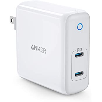 USB C Charger, Anker 60W 2-Port PowerPort Atom PD 2 [GAN Tech] Compact Foldable Wall Charger, Power Delivery for MacBook Pro/Air, iPad Pro, iPhone 11 / Pro/Max/XR/XS/X, Pixel, Galaxy, and More