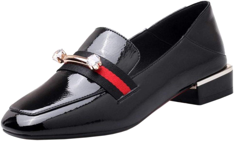 Melady Women Classic Brogue Pumps shoes Slip On