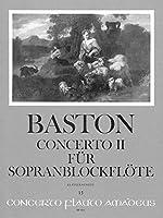 BASTON J. - Concierto nコ 2 en Do Mayor para Flauta de Pico Soprano y Piano (Zahn)