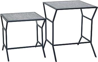 Crestview Collection CVFZNR001 S/2 Tables 1SET UPS Pack / 6.38' Furniture