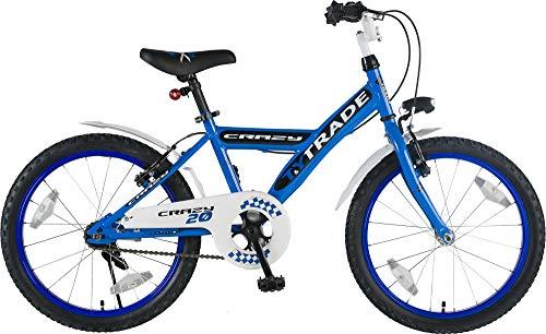 k 20 Zoll BMX Kinder Fahrrad Rad KINDERFAHRRAD JUGENDFAHRRAD Kinderrad Blau Crazy TYT19-009