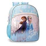 Disney Zainetto Asilo 33Cm Frozen True To Myself, Blu, 27x33x11