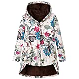 Kobilee Abrigo de otoño para mujer, elegante, largo con capucha, tallas grandes, forro polar,...