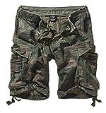 Brandit Basic Vintage - Pantalones cortos para hombre woodland XXXXXXXL