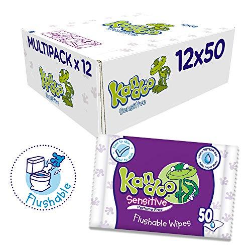 Pack 12 paquetes toallitas Kandoo, 600toallitas