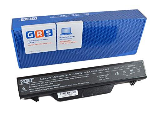 GRS Batterie avec 6600mAh pour HP ProBook 4510s 4515s 4515 4710s 4710s CT remplacé: 513130-321 HSTNN-1B1D HSTNN-OB88 HSTNN-OB89 HSTNN-W79C-7 HSTNN-XB89 14.4V/ 95Wh