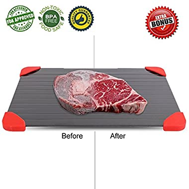 Defrosting Tray and Plate. Quick Meat thawing-magic defrosting tray for frozen food. As seen on TV,defrost-melting tray, no electricity. Rapid Defrost pad is fast metal tray for foods by PINE KITCHEN.
