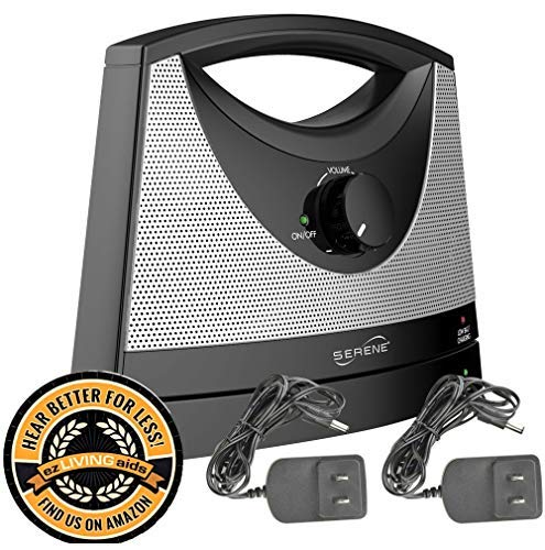 Serene Innovations TV-SB Wireless TV Listening Speaker w/Free Extra Power Adapter & EZ Living Aids Drink Coaster