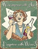 ワイン改良金属ティンサイン