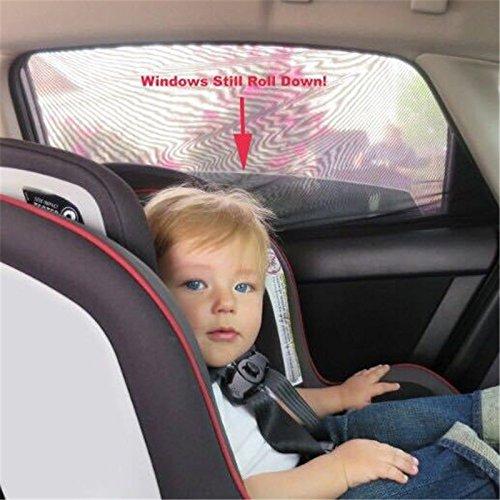 onemoret 2/Pair Sun Shades Schwarz Mesh Baby Gesundheit Hohe Qualität DIY Auto Fenster Socken Sox passt für die meisten von Cars
