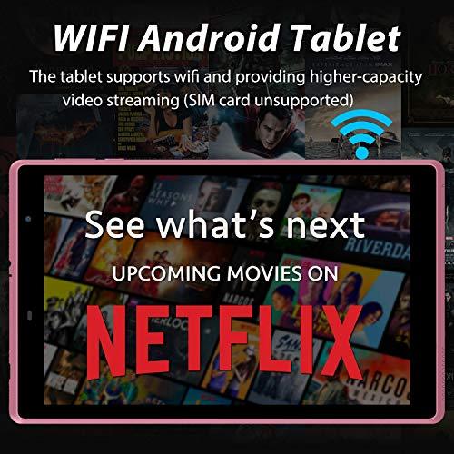 Tablet 8 Zoll Android 10 WiFi Tablet PC, 3 GB RAM 32 GB ROM/128 GB Erweiterbar, Google GMS Zertifiziert, Quad-Core, 1280 x 800 IPS HD Screen, 5MP & 2MP Kamera, 5000 mAh, Type C, Bluetooth, FM