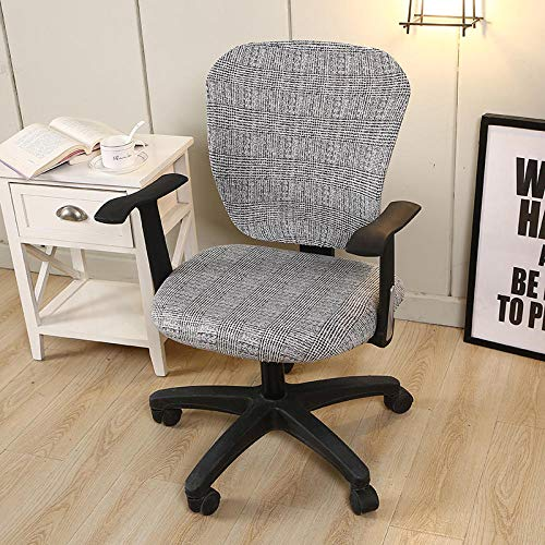 Dining Chair Slipcovers 1Pcs Modern Stretch Spandex Chair Covers Anti-Dirty Computer Seat Cover Easy Washable Removeable For Office Chairs(Does Not Contain Chairs)-I