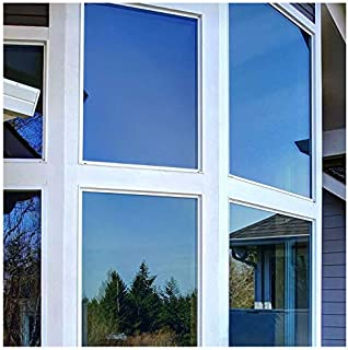 BDF PRBL Window Film Premium Color High Heat Control and Daytime Privacy Blue (24in X 12ft)