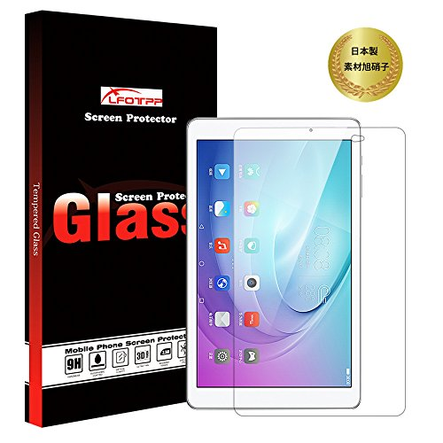 [LFOTPP] Huawei MediaPad T2 10.0 Pro 強化ガラス 液晶保護フィルム 日本製素材旭硝子 硬度9H 高鮮明 高感...