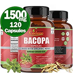 ❤️EXCELLENT FORMULA: The Cadane capsules 1500 mg per serving is a perfect combination of healthy ingredients with the exceptionally strong formula: Bacopa powder 1000 mg, Ashwagandha powder 300 mg, Ginseng powder 200mg. Cadane product is a very good ...