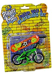Create some amazing stunts with this awesome fingerboard mini skateboard and BMX Perform all the usual skateboard tricks and stunts but on a miniature scale! Micro tools and lock included Great to give as a gift or perfect as party bag and stocking f...