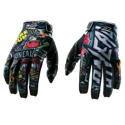 O'Neal 0385-131 Jump Gloves with Crank Graphic (Black/Multicolor, Size 11)