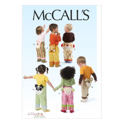 McCall Pattern Company M6825 Toddlers' Pants Sewing Template