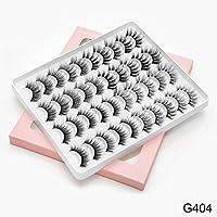 毎日のメイク&プロフェッショナルメイク個々のためのDIY 8/20ペアふわふわ太いうっすら3Dつけまつげアイメイク (色 : G404 2)