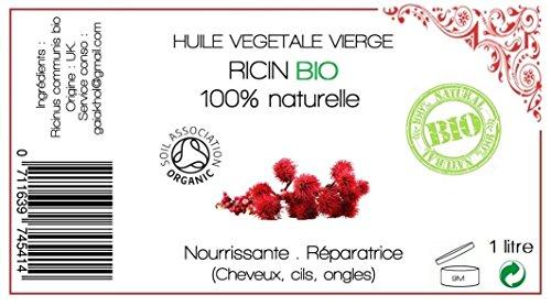 HUILE VEGETALE DE RICIN Certifié BIO - 1 L