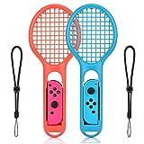 Tennis Rackets für Nintendo Switch, 2 Stück Tennisschläger für Nintendo Switch Joy-Con Controllers für Mario Tennis Aces, ARMS and Motion Sensing Spiele