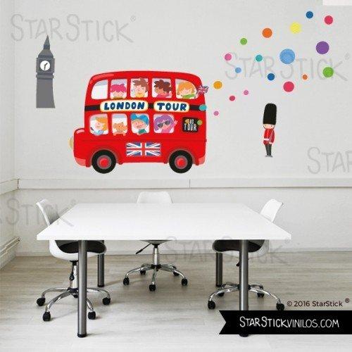 StarStick - London Bus - Vinilos infantiles bebé 265x165 cm - T4 - Gigante