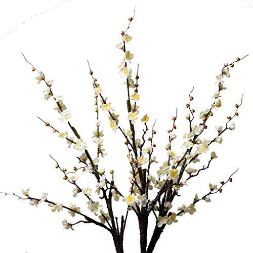 DXIUMZHP Floristik Pflaumenblüten-Simulationsblume Wohnzimmermöbel Innendekoration Blumen Blumenzweige Und Stängel Können Nach Belieben Gefaltet Werden Nicht Leicht Zu Brechen