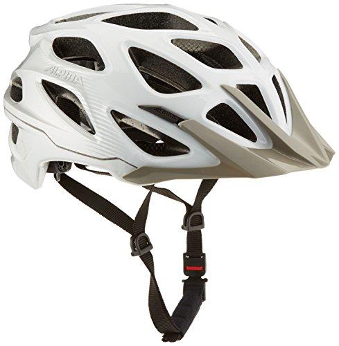 ALPINA MYTHOS 3.0 Fahrradhelm, Unisex– Erwachsene, white silver, 57-62