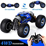 KingsDragon Remote Control Car,2.4 GHZ High Speed Stunt RC Racing Cars RC Rock Crawler w/ Rechargeable Batteries,Indoor Outdoor Motors Vehicles Buggy Hobby Car Toy Gifts for Kids Boys Girls Adult-Blue