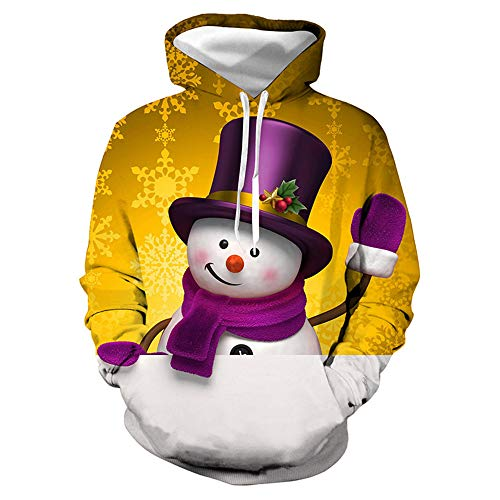 x8jdieu3 Das Sweatshirt der Herbst-Strickjacke-Männer Weihnachtsschneemann-3D Digitaldruck-mit Kapuze beiläufige Lange Hülsen-Jacke