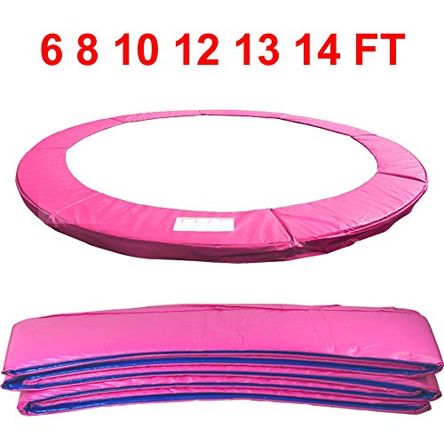 Greenbay 14FT Outdoor Trampoline Replacement Pad Safety Spring Cover Padding (Pink)