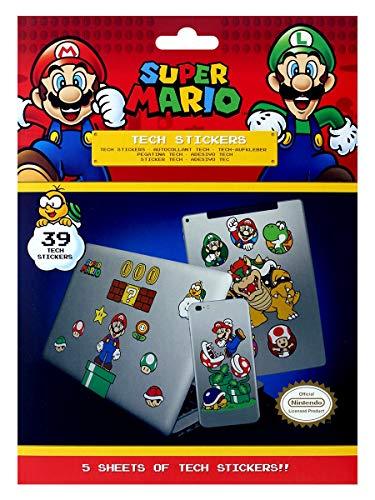 Super Mario - Tech Sticker Mushroom Kingdom