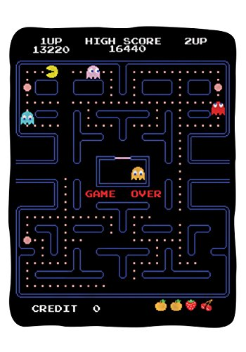 Pac Man Namco Classic Video Game 45x60 Fleece Throw Blanket