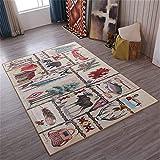 RUGMYW No Se Deforma Fácilmente alfombras Pelo Corto Salon Elementos de la Vida Cuadrada de Color clásico Alfombra Outlet 45X75cm