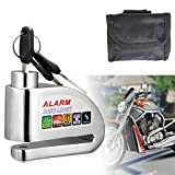 Motorcycle Lock,Disc Brake Lock,Motorcycle Disc Lock Alarm Anti-theft 110dB Alarm Sound and 6mm Pin with 1.5m Reminder Cable for Motorcycles, Bicycles and Scooters Brake Disc Wheel Lock