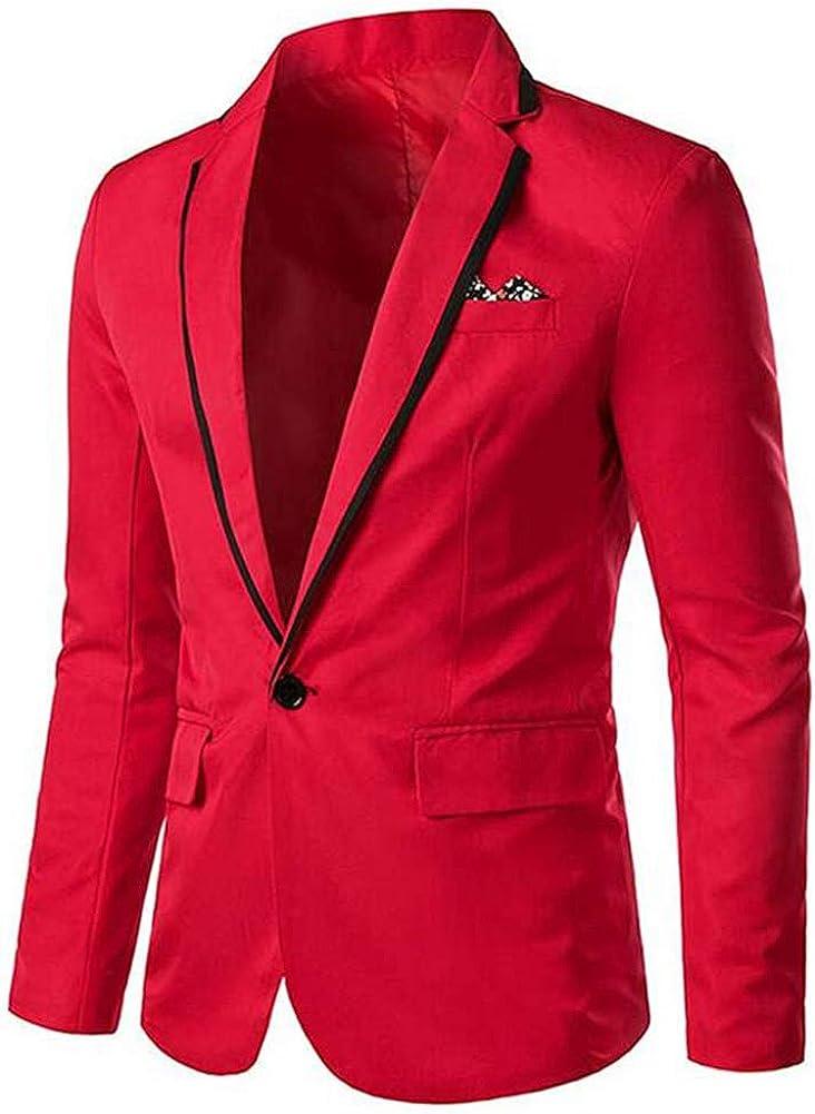 TOPG Men's One Button Business Suit Jacket Slim Fit Men Wedding Party Dress Coat