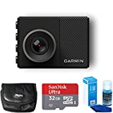 Garmin Dash Cam 45 Bundle with 32GB microSDHC Memory Card, Universal Screen Cleaning, and Ultra-Compact Carrying Case