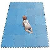 YIMINYUER Esterilla Puzzle de Fitness 30x30x1cm Suelo de Gimnasio de Goma Espuma EVA Azul R07G301020